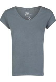 Camiseta Khelf Manga Curta Azul