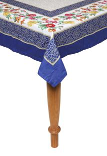 Toalha De Mesa Kacyumara Casa K Olímpia 150X270Cm Branca/Azul - Tricae