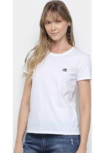Camiseta Ellus 2Nd Floor Básica Logo Feminina - Feminino-Branco