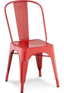 Cadeira De Jantar Iron Vermelha
