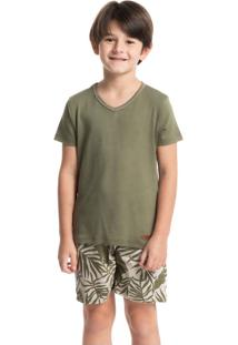 Pijama Infantil Masculino Curto Estampado Guilherme