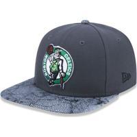64e817d69b059 Boné New Era 950 Orig. Fit Snapback Boston Celtics Chumbo