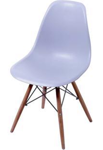Cadeira Eames Polipropileno Cinza Base Escura - 44842 - Sun House