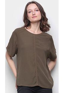 Camiseta Forum Contornos Feminina - Feminino-Verde