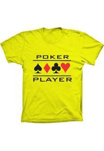 Camiseta Baby Look Lu Geek Poker Player Amarelo