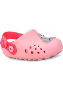 Babuche Fem Infantil Grendene 21793 20791 Disney Mix Babuche Baby Rosa