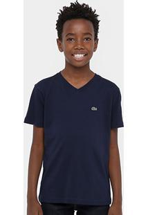 b6d40219913 Camiseta Para Meninos Lacoste Sarja infantil