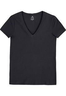 Camiseta Hering Básica Gola V Feminina - Feminino