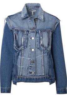Jaqueta Rosa Chá Bang Jeans Azul Feminina (Jeans Claro, Pp)