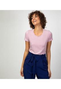 Camiseta Liz Easywear Manga Curta Feminina - Feminino-Lilás
