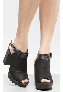 6aad90f93e Ankle Boot Couro Tanara Meia Pata Feminina - Feminino
