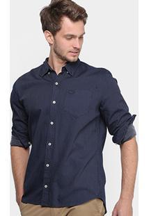 8c46394340a53 Camisa Social Lacoste Regular Fit Maquinetada Masculina - Masculino