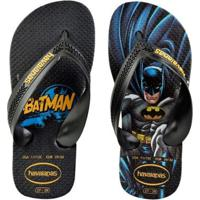 86d49b95f Chinelo Infantil Havaianas Batman Masculino - Masculino-Preto