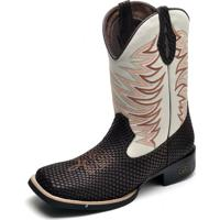 13c92664702 Bota Country Bico Quadrado Top Franca Shoes Cafe   Gelo