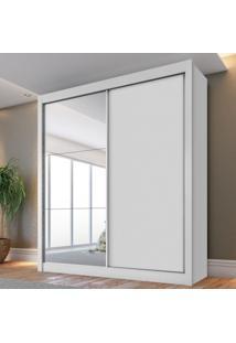 Guarda Roupa Casal 2 Portas De Correr 1 Porta Com Espelho 4 Gavetas Fama Star Siena Móveis Branco