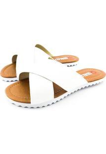 Rasteirinha Quality Shoes Verniz Branco - Kanui