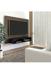 Painel Para Tv Até 42 Polegadas Com Nicho Flash Artely Amêndoa/Preto