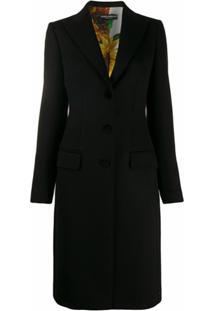 Dolce & Gabbana Casaco Slim Com Abotoamento - Preto