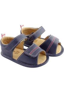 Sandália Infantil Couro Catz Calçados Gipsy Pesponto Masculina - Masculino-Marinho