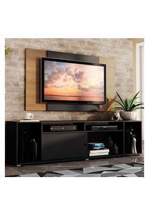 Rack Madesa Cancun E Painel Para Tv Até 58 Polegadas Preto/Rustic 8N7K Preto