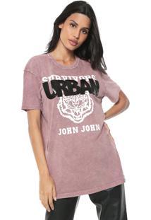 Camiseta John John Urban Tiger Rosa