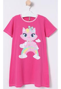 Camisola Gatinha & Arco-Íris - Pink & Rosa Claropuket