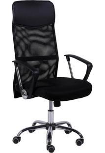 Cadeira Office Smart- Preta & Prateada- 118,5X61X51Cor Design