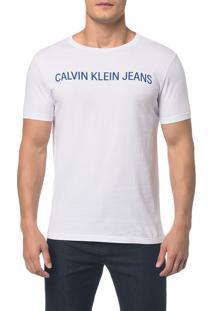 Camiseta Ckj Mc Logo Branco 2 - Pp