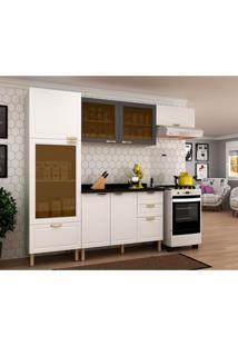 Cozinha Compacta Nevada Ii 7 Pt 4 Gv Branca E Grafite