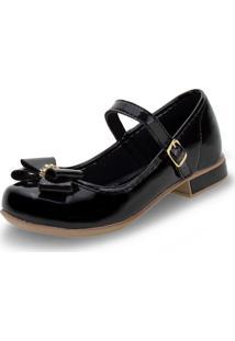 Sapato Infantil Feminino Bonekinha - 330002 Verniz/Preto 33