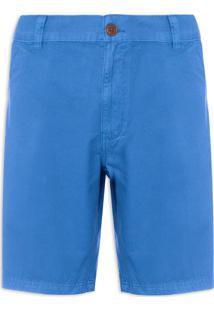Bermuda Masculina Cotton Twill Parachute Básica - Azul
