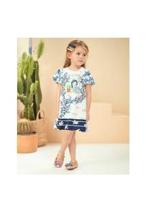 Vestido Infantil Cotton Plus Estampado Tecido Silk Com Elastano Sublimado-3
