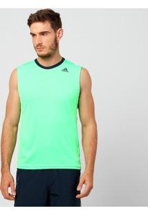 Camiseta Regata Adidas Supernova - Masculino-Verde Limão
