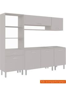 Cozinha Compacta Uccelli 6 Pt 1 Gv Off White