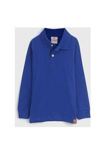 Camisa Brandili Infantil Lisa Azul