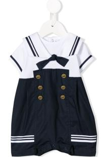 Aletta Newborn Sailor Bodysuit - Branco