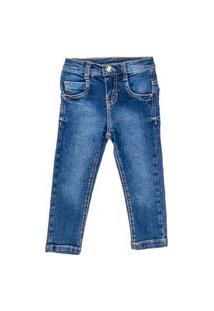 Calça Jeans Masculino Stone Ou Delavé - Anjos Baby Chic Jeans Azul