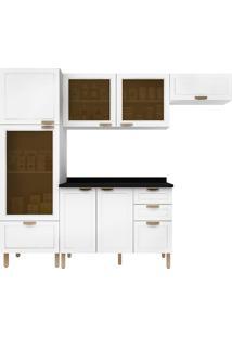 Cozinha Modulada 5 Peças Com Tampo E Nevada 5686Vdtp-Multimóveis - Branco Premium