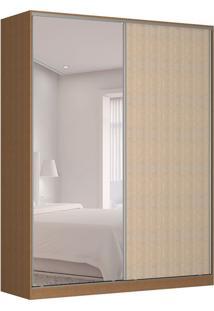 Guarda-Roupa Solteiro Com Espelho Tunas V 2 Pt 3 Gv Marrom E Noce