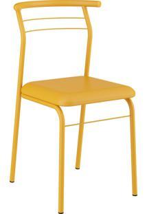Kit 2 Cadeiras 1708 Napa Móveis Carraro Amarelo