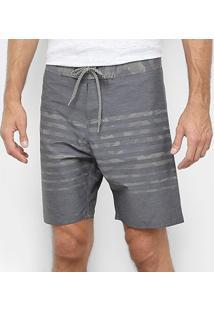 Bermuda Hang Loose Camuflada Masculina - Masculino-Cinza
