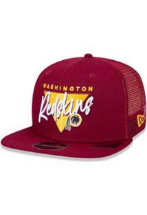 Boné Trucker Washington Redskins Nfl Aba Reta New Era - Masculino-Vinho f30cf8f4434