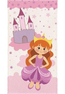 b1162e95a3 Toalha Felpuda De Banho Estampada Princesa- Rosa Claro  Lepper