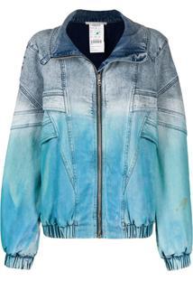 Stella Mccartney Jaqueta Jeans Tie Dye - Azul