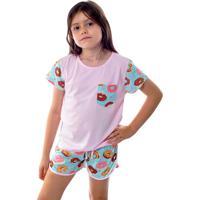 b6aed515e Dafiti. Pijama Infantil Curto Donuts - Mania Pijamas
