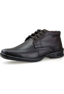 Sapato Botinha Casual Conforto Neway Antistress Marrom - Marrom - Masculino - Dafiti