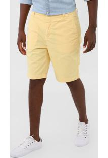 Bermuda Sarja Richards Chino Pespontos Amarela - Amarelo - Masculino - Algodã£O - Dafiti