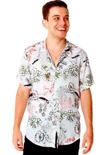 Camisa Manga Curta Convicto Estampa Floral
