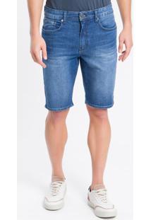 Bermuda Jeans Five Pockets - Azul Marinho - 36