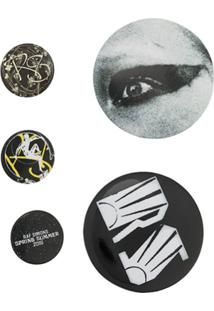 Raf Simons 5 Button - Metálico